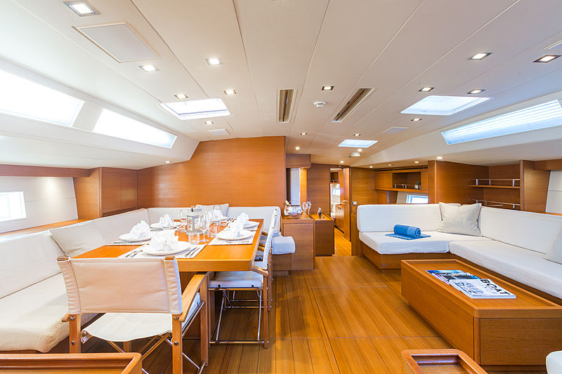 Blues yacht sailing saloon