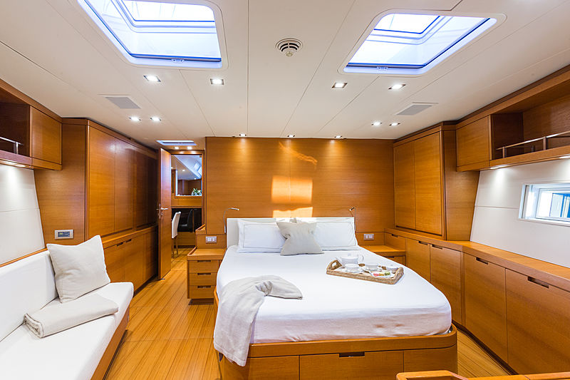 Blues yacht stateroom