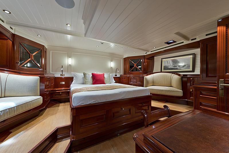 Rainbow yacht stateroom