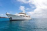 Berilda yacht at anchor