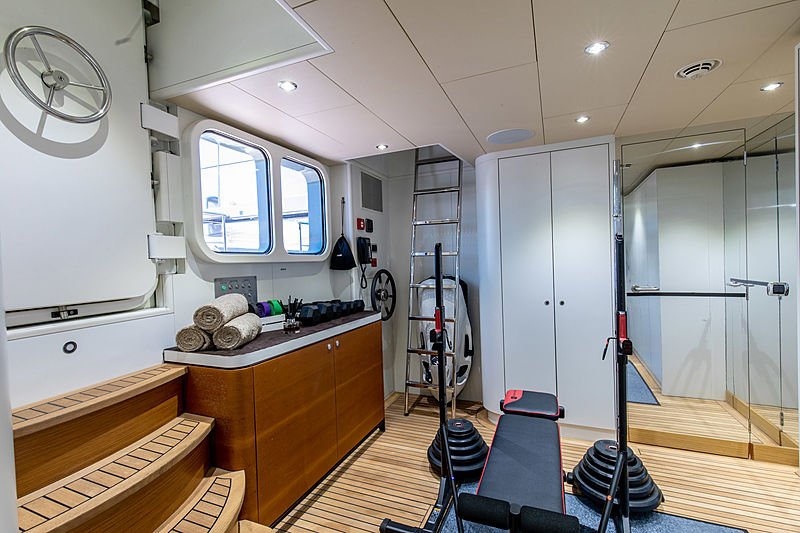 Mrs. B yacht gym