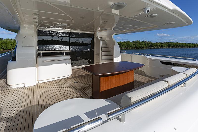 True yacht aft deck