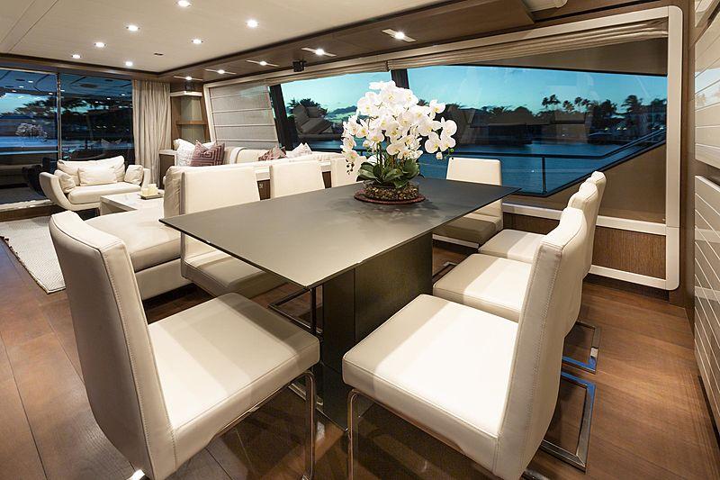 True yacht interior