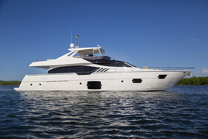 True yacht anchored