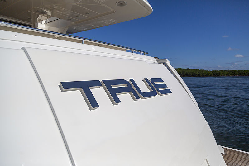 True yacht name plate