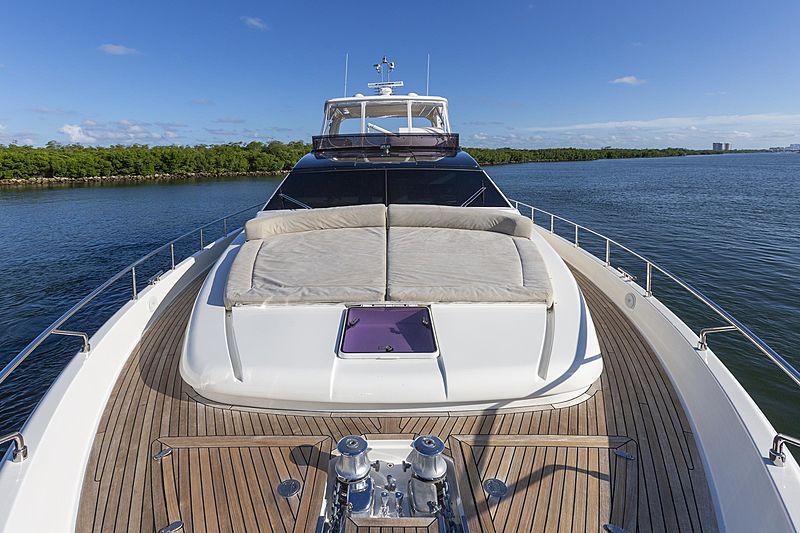 True yacht foredeck