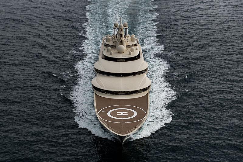 Dilbar yacht by Lürssen underway