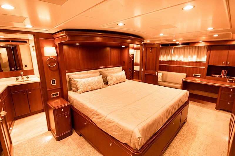 Blue yacht stateroom