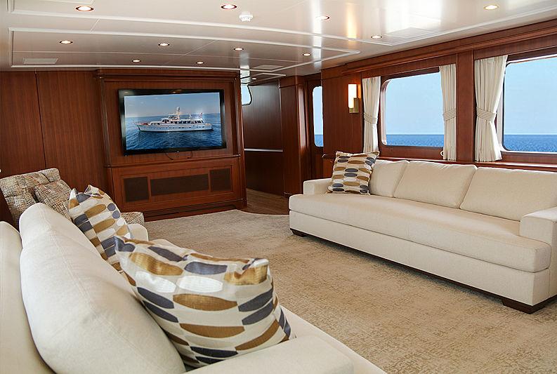 Blue yacht saloon