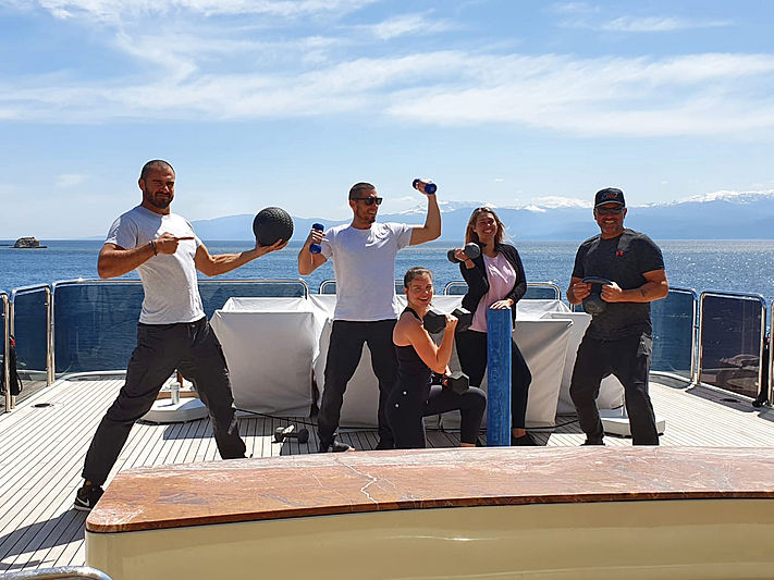 Bash yacht crew