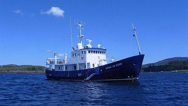 Spirit of Romo yacht anchored