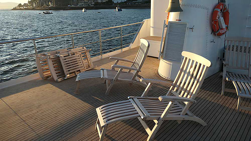 Spirit of Romo yacht deck