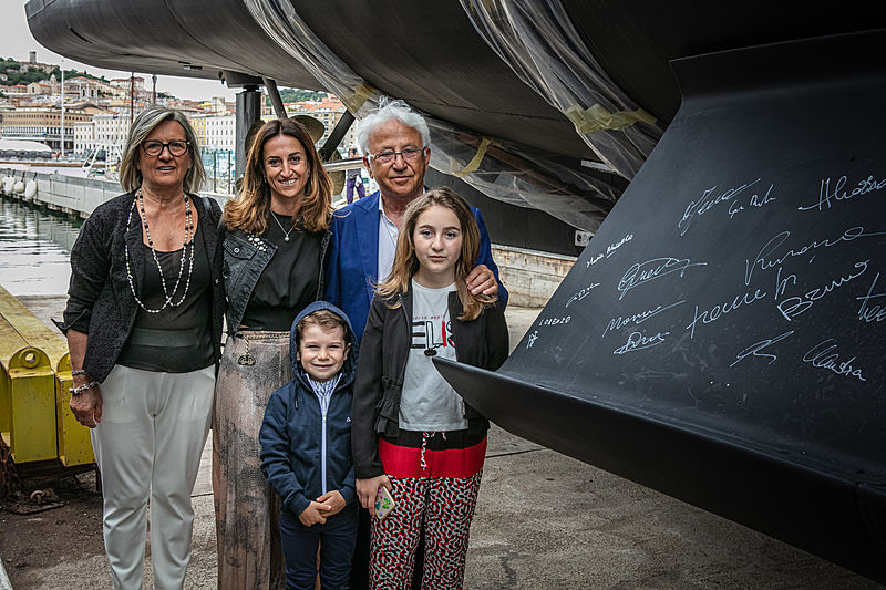 The Belardinelli family at the launch of yacht K-584