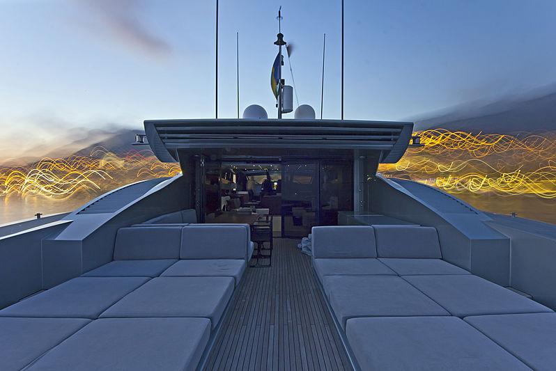 High Roller yacht aft deck