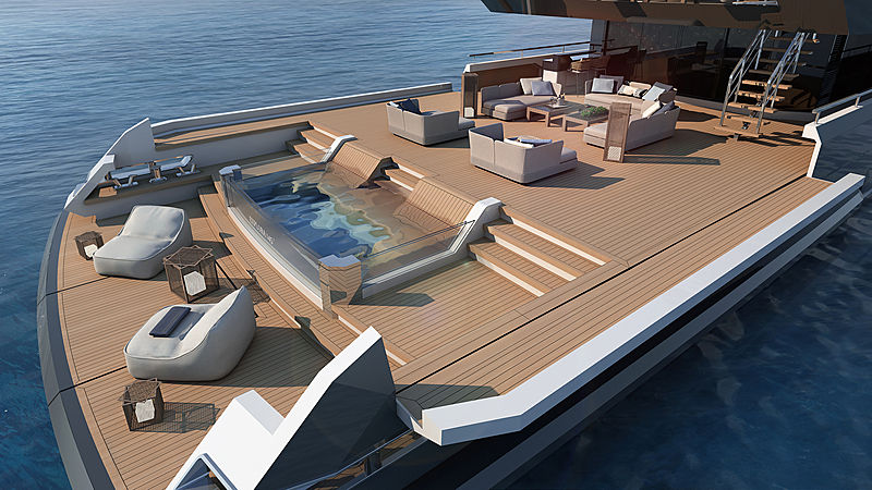 Inace Explora 145 yacht exterior rendering