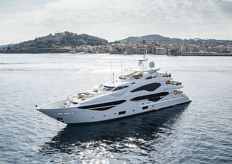 Zozo yacht at anchor