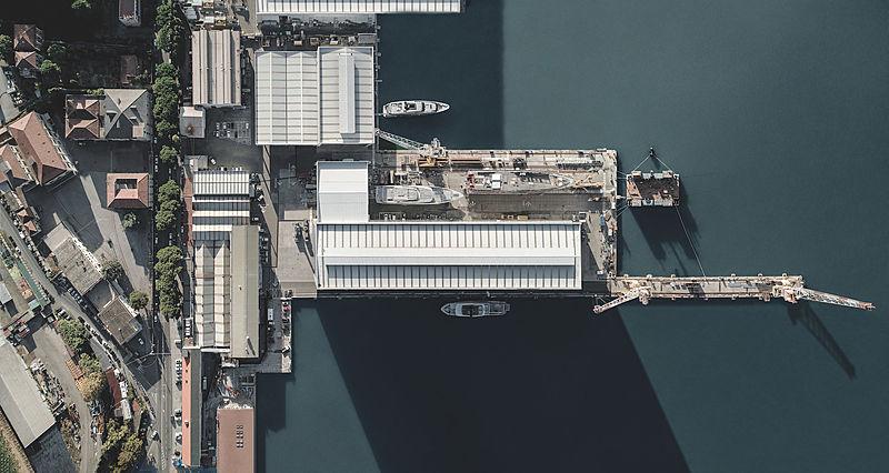 Sanlorenzo shipyard La Spezia