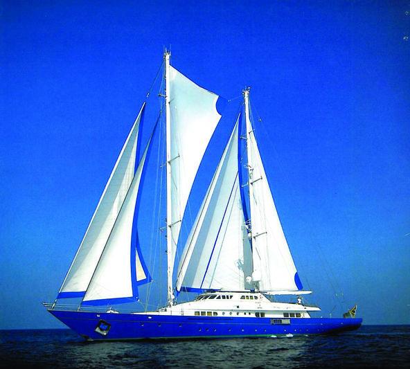 Blue Gold under sail