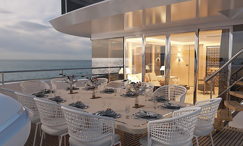 Bering 145 interior by Bering Yachts