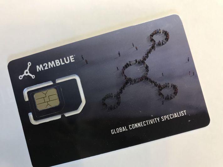M2M Blue Sim Card