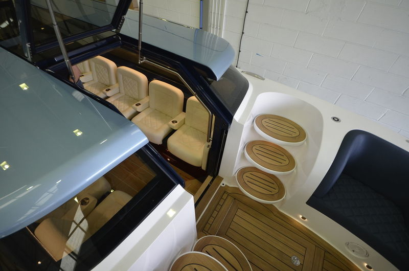Jubilee 10.6m tender interior aerial shot