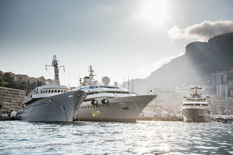 Atlantis II, Lady Moura and Lionheart in Monaco