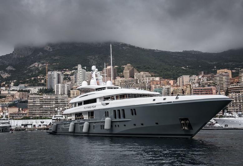 Flying Fox docking in Monaco