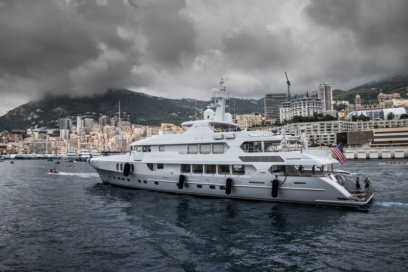 Chasseur arrives in Monaco ahead of the yacht show