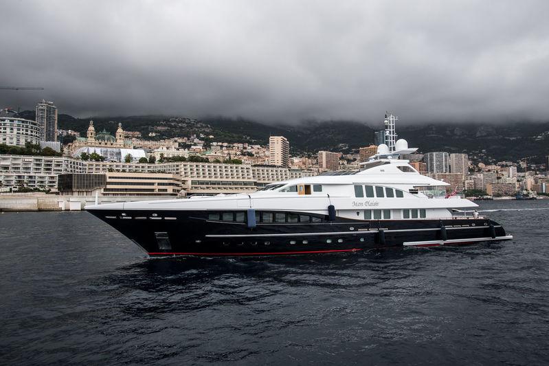 Mon Plaisir arrives in Monaco ahead of the yacht show