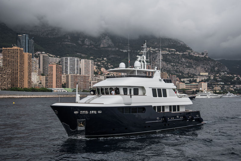 Smiling T arrives in Monaco ahead of the yacht show