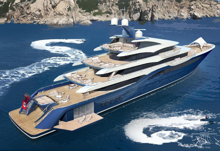 85m Nobiskrug and Winch Design Concept