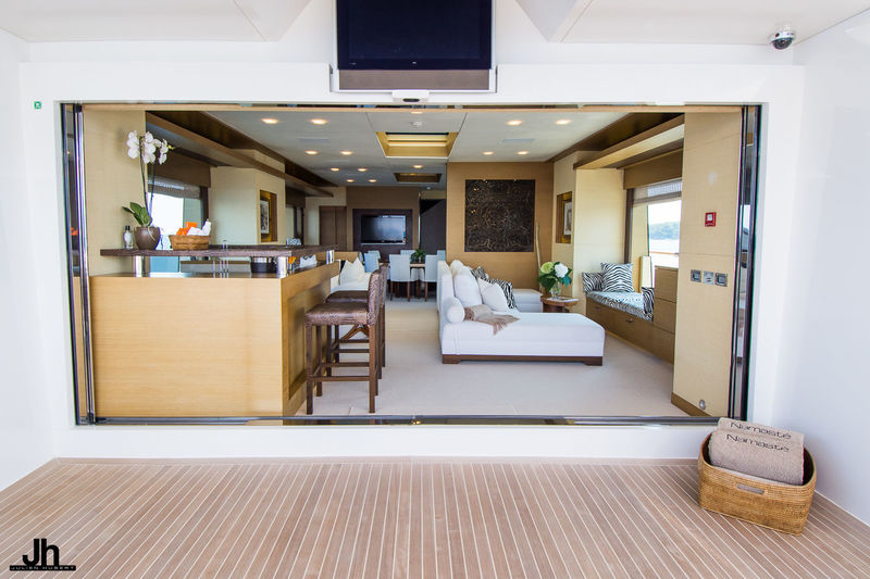 Namaste 40m upper deck view