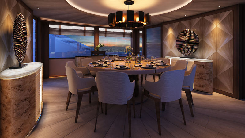 Fifty (50m) dining room rendering
