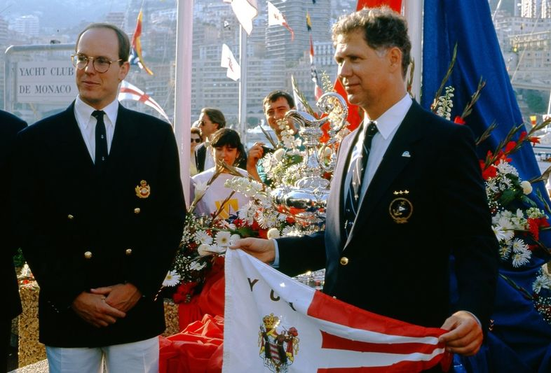 Prince Albert II in 1991 as the America's Cup returns to Monaco