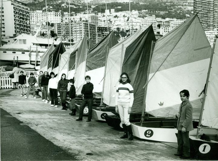 The inauguration of the Ecole de Voile in 1953