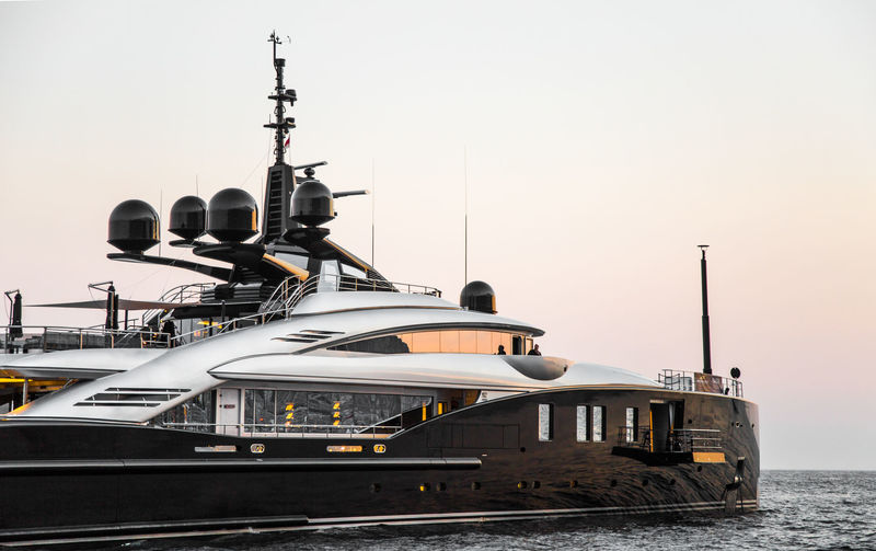 Okto yacht off Monaco
