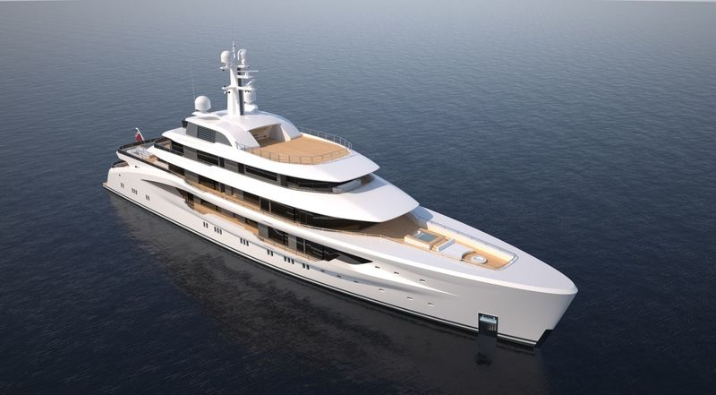 Amels 78m custom project rendering