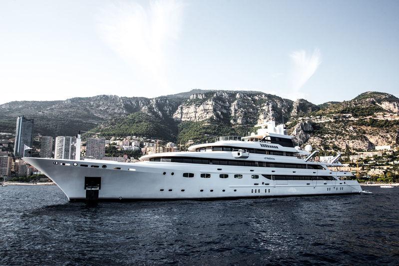 O'mega anchored off Monaco