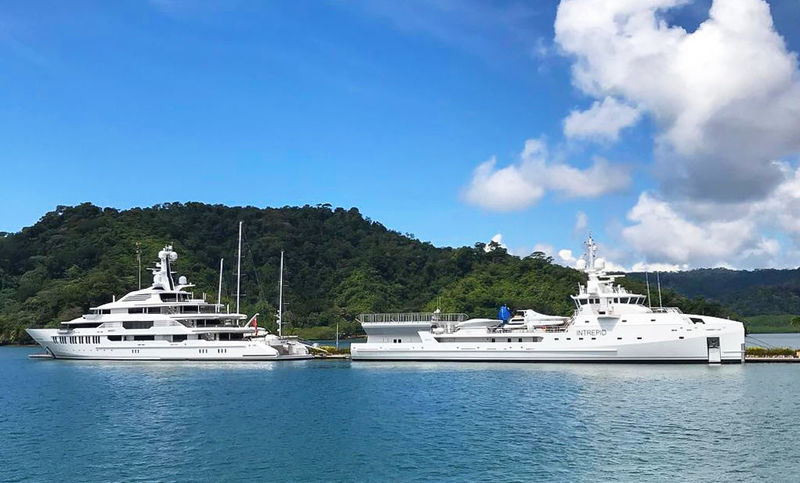Infinity and Intrepid in Golfito Bay