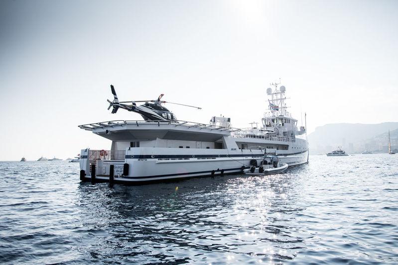 Garcon anchored off Monaco