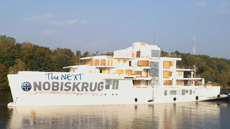 Nobiskrug Project 790 hull and superstructure