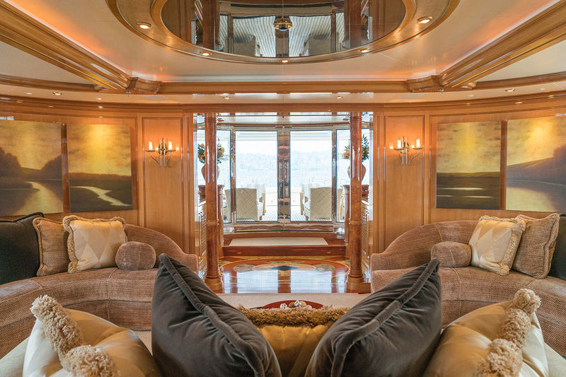 Invader 49.9 metre saloon looking out