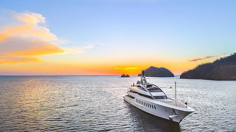Halo yacht anchored in the Papagayo Peninsula, Costa Rica