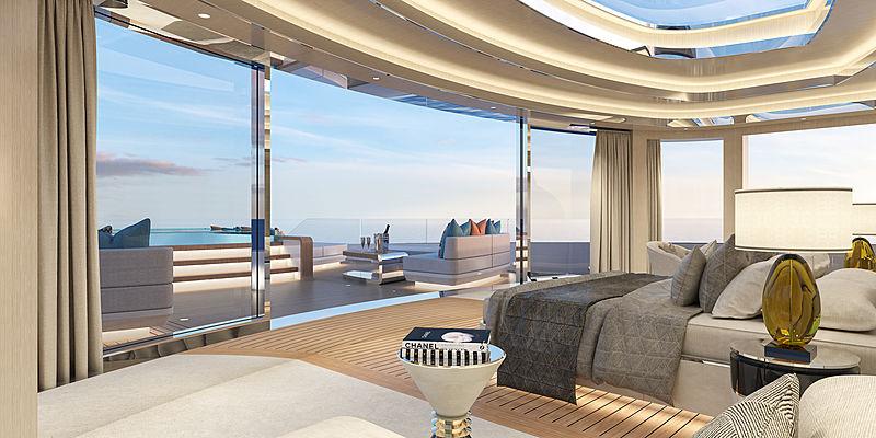 Blanche 70m yacht concept by Fincantieri interior design