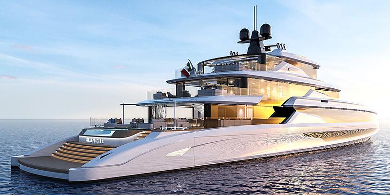 Blanche 70m yacht concept by Fincantieri exterior design