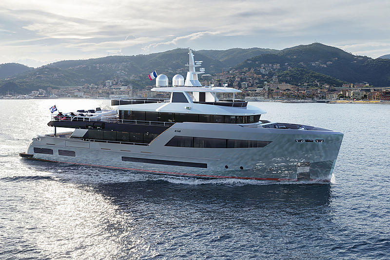 Bering 145 yacht exterior design