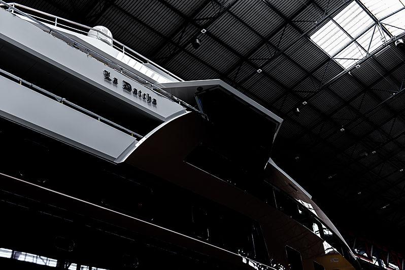La Datcha yacht exterior detail