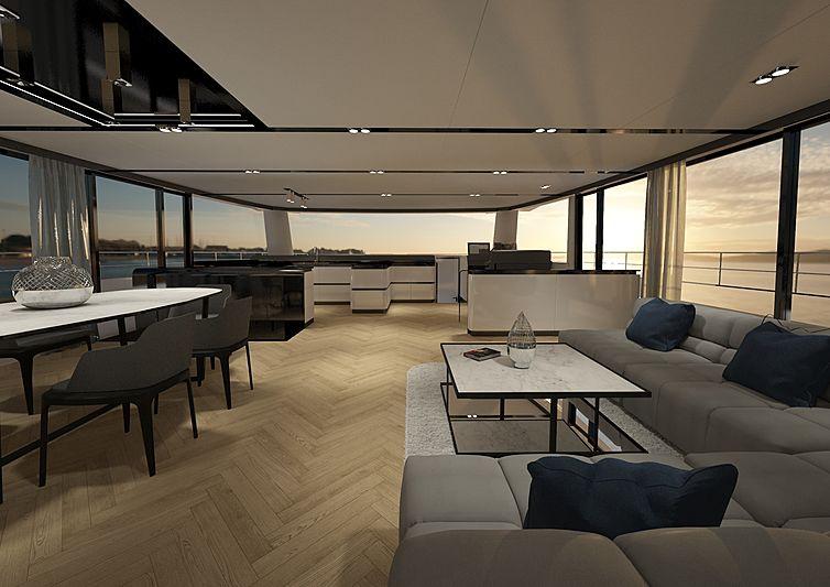 Silent 80 yacht interior design