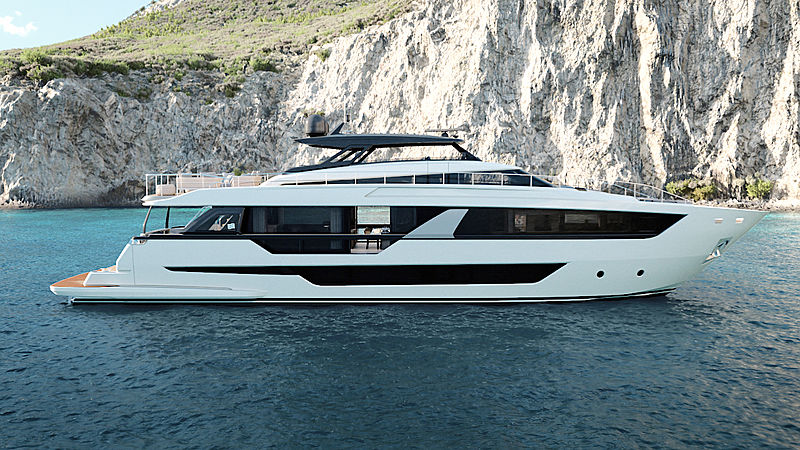 Ferretti 1000 yacht exterior rendering