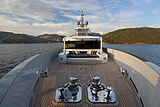 Only Now yacht foredeck